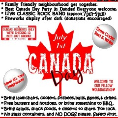 Community Sponsored Canada Day Barbeque
